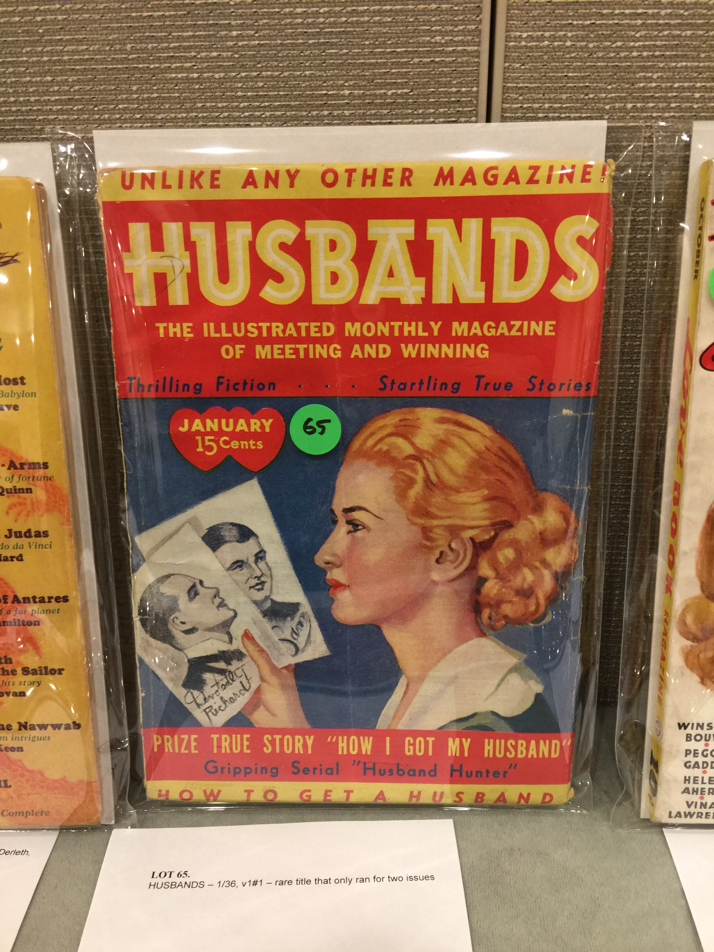 A rarity - one issue pulp Husbands, what were they thinking?